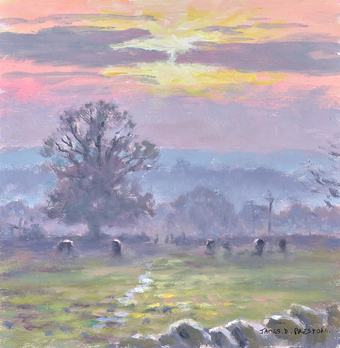 Sunrise II by james preston -  sized 8x8 inches. Available from Whitewall Galleries